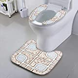 Jiahonghome Sit Toilet Cover Tiles Background Ceramic Surface Object Ceramic Floor and wtile Background with High Absorbency