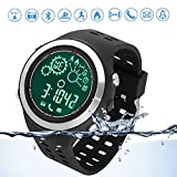 Kyпить Sports smart watch Bluetooth running Watch swimming tracker IP67 Waterproof Remote Camera bluetooth watch pedometer for Android and IOS Smartphones Black на Amazon.com