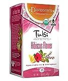 Davidson's Tea Tulsi Hibiscus Flower, 25-Count Tea Bags (Pack Of 6)