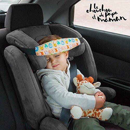 Banda soporte sujeta cabezas cabeza coche vehiculo para niño bebe correa seguridad infantil elastica proteger cervicales niño niña ajustables adactable GRAN ...