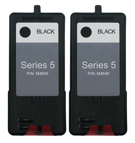 OCProducts Refilled Dell Series 5 J5566 Ink Cartridge Replacement for Dell Photo 922 924 942 944 946 962 964 Printers (2 Black)