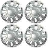 envoy hubcap - OxGord Hubcaps for 17 inch Standard Steel Wheels (Pack of 4) Wheel Covers - Snap On, Chrome