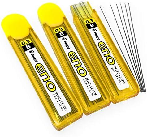 Pilot eno-g lápiz mecánico – Minas para portaminas – 0,3 mm – B – Pack de 3 – 36 minas: Amazon.es: Oficina y papelería