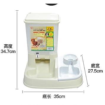 Bcrbcr55 Cat Dog Alimentador Automático Cat Dog Alimentador Automático Dispensador De Agua Recipiente De Comida Recipiente De Agua Dispensador Físico Comida ...