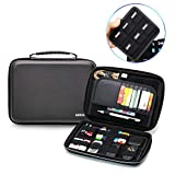 Power Bank Case/Hard Drive Case - Elvam Universal Handle Portable Flexible Waterproof Shockproof Electronic Accessories Organizer Case Holder/USB Flash Drive Case Bag/GPS Case Bag/Cable Case