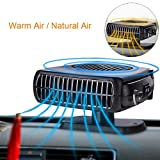 Portable Car Fan Heater, Alotm 12V 150W Heater Defroster with Swing-out Handle 2 in 1 Handy Winter Auto Electronic Windscreen Heater Fan Defroster Demister - Blow Warm / Natural Wind