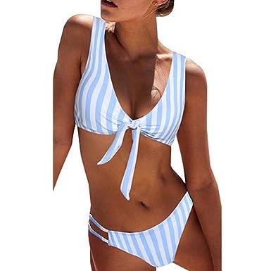 Bikini con Nudo de Lazo para Mujer, Sexy Sujetador con ...
