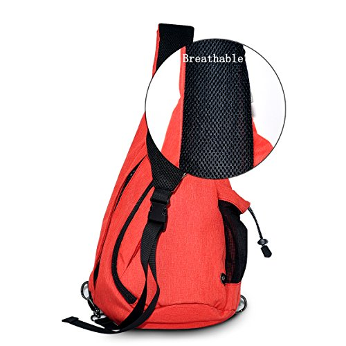 Multi Strap Satchel Gym Travel Prime By Outdoor Exchange For Adjustable Fanny Shoulder Bag Cycling Chest Sack colored Red Hiking Lc Nylon Sling Backpack Unbalance Pack Rucksack RzOB0qS