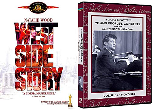 People's Young Classical Concert Leonard Bernstein Lincoln Center Vol. 2 New York Philharmonic Orchestra 9 DVD Set + The Classic Musical West Side Story ()