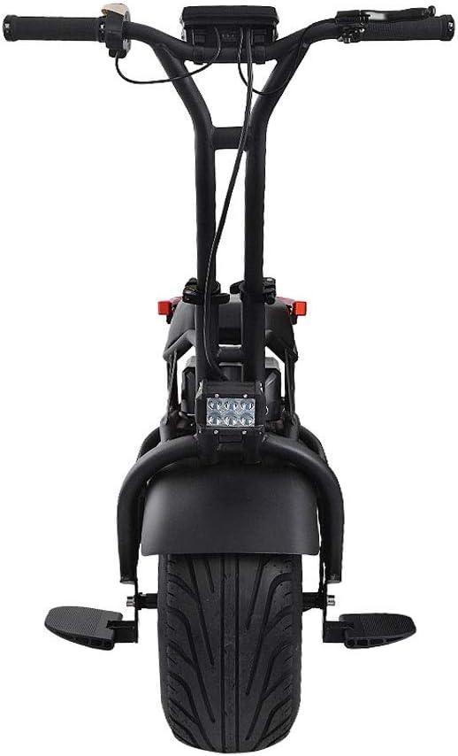 Monociclo Eléctrico Scooter Autobalanceo 500W Adultos Solteros Ruedas De La Motocicleta con Ruedas Gemelas, con La Rueda De Formación