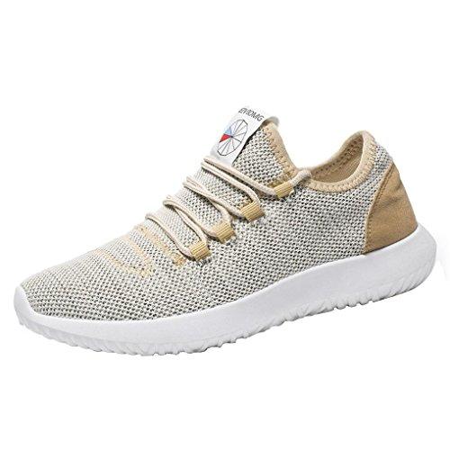 Piatte Sneakers Uomo Cachi da Casual Ginnastica Scarpe Scarpe Scarpe Ginnastica Uomo Traspiranti ASHOP da Scarpe qH4UBWwS7