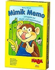 Haba 304242 Mimik Memo – educatieve spellen voor mond- en lippenmotoriek, speelse spraakondersteuning voor kinderen van 3 tot 8 jaar