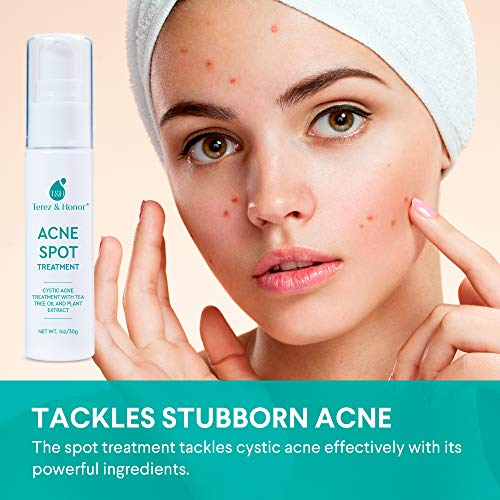 Acne Spot Treatment for Acne Prone Skin - Treats Cystic Acne, Advanced Acne Removal, Fast-Acting, Pimple Repair with Tea… 2