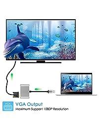 Adaptador USB 3.0 a HDMI VGA de salida dual, USB a VGA HDMI HD 1080P Cable convertidor para Windows 7 8 10 ordenadores