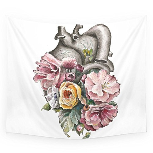 Society6 Floral Anatomy Heart Wall Tapestry Small: 51