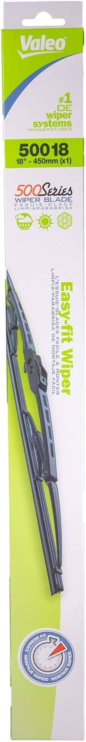 Pack of 1 Valeo 50013 500 Series Windshield Wiper Blade 13