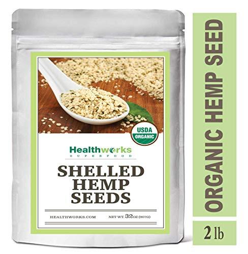 - Healthworks Hemp Seeds, (2lb / 32oz) | Hemp Hearts | Organic | All Natural | Shelled | RAW | Omega Packed | Plant-based Protein | Keto | Vegan | Low Carb | Non GMO