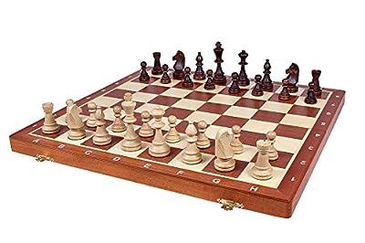 "Tournament Staunton Complete No. 6 Board Game - Hand Made European 21""x 21"" Set"
