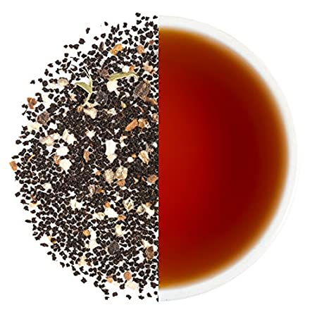 Teabox Assam Masala Chai Black Tea 3.5ounces/100g (40 Cups) from India, Loose Leaf with Natural Ingredients: Cinnamon, Cardamom, Black Pepper, Clove, Ginger | Delivered Garden Fresh Direct from Source