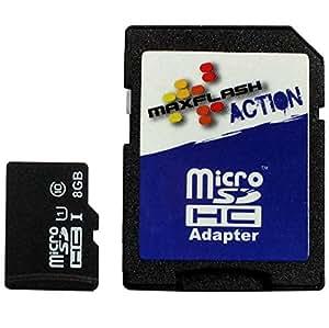 MaxFlash 8GB microSDHC 8GB MicroSDHC Clase 10 memoria flash - Tarjeta de memoria (8 GB, MicroSDHC, Clase 10, 10 MB/s, Negro)