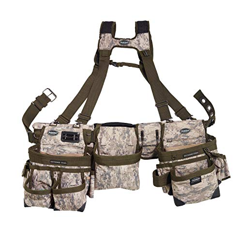 Bucket Boss 3 Bag Tool Bag Set with Suspenders in Digital Camo, 55185-DIGC