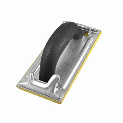 Miki y CO negro mango de plástico amarillo oscuro Base de espuma de flotador quitar lechada