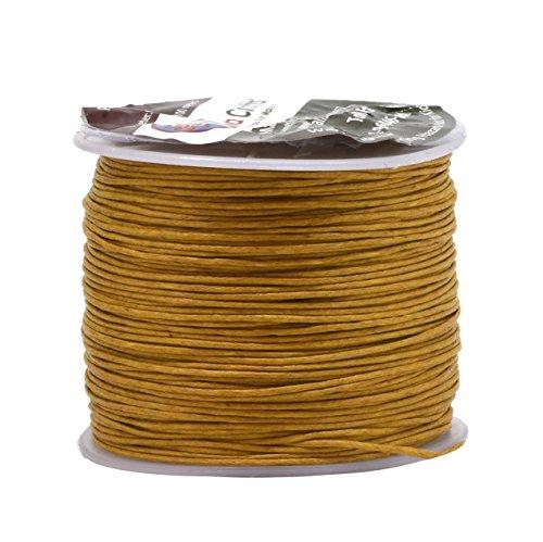UPC 633841205497, Mandala Crafts 0.5mm 109 Yards Jewelry Making Crafting Beading Macramé Waxed Cotton Cord Thread (Gold)