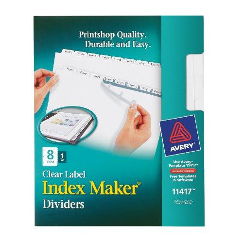 index maker clear label divider