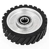 Happybuy 8x2inch Belt Grinder Rubber Wheel Serrated