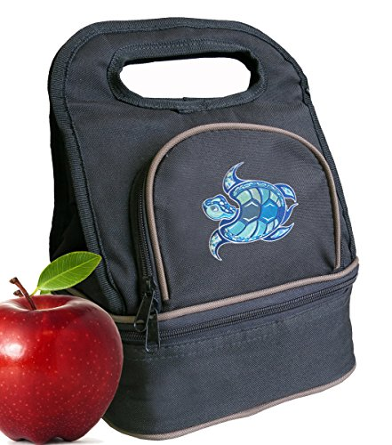 Sea Turtle Lunch Bag Turtle Lunch Box - 2 Sections!