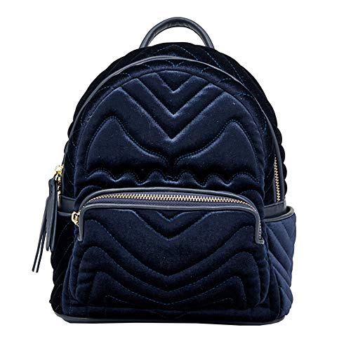 Multipurpose Daypacks, Women's Backpack Fashion Embroidery Little Devil Velvet Small Backpack Anti-Theft Girl Wallet Blue