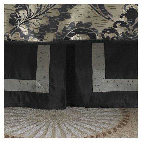 (Waterford Linens Ormonde Black/Gold Bed Skirt, California King)