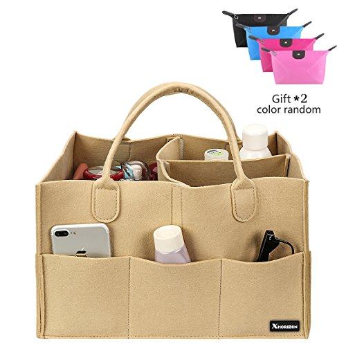 xhorizon SR Felt Backpack Organizer Insert, Handbag Organizer, Backpack Purse and Travel Backpack, Multi Pocket Bag in Bag Organizer for Tote & Handbag & Backpack Shaper, Multipocket Insert Bag by xhorizon