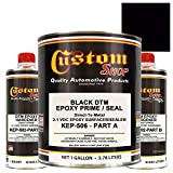 Custom Shop EPOXY PRIMER - BLACK - KIT-KEP506-GL DTM (Direct to Metal) 2.1 VOC Makes 1-1/2 Gallons Sprayable - For Automotive and Industrial Use