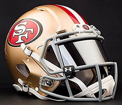 01544fd1b Image Unavailable. Image not available for. Color  Riddell Speed SAN  Francisco 49ers NFL Authentic Football Helmet with Mirrored Eye Shield Visor