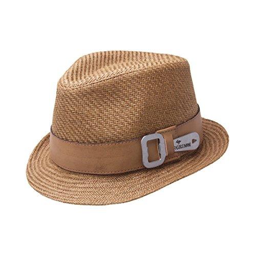 Peter Grimm Luke Toyo Straw Fedora Bottle Opener Hat - (Toyo Straw Fedora Hat)