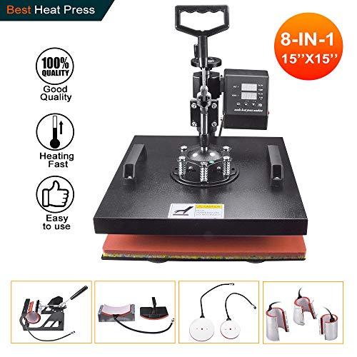 8 in 1 heat press machine 15x15 - 5