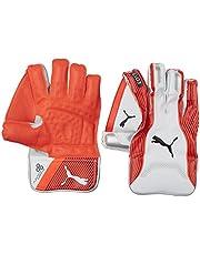 Puma, Cricket, Evo 3 Wicket Keeper Gloves, Small Boy, Fiery Coral/White