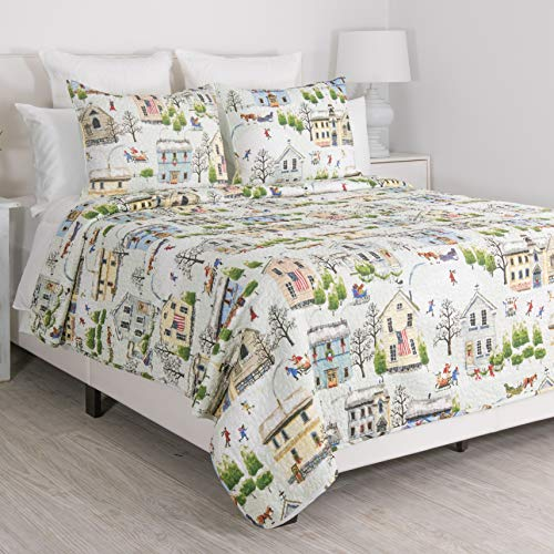 Holiday King Comforter - James Home Holiday Village King Quilt Set, Multi