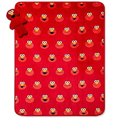 Elmo Character Pillow Toy Plush Throw Set: Home & Kitchen