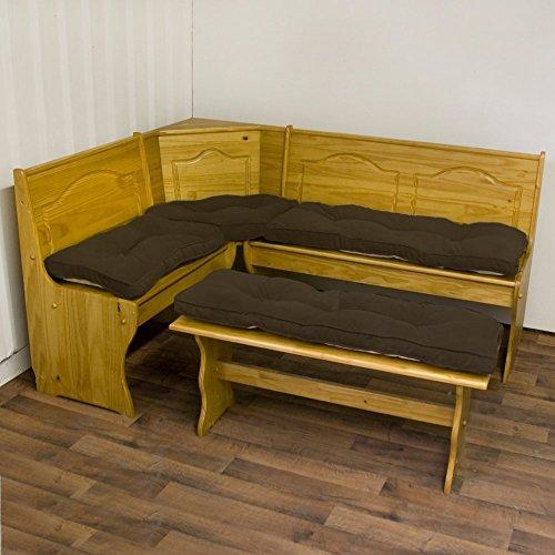 Greendale Home Fashions Hyatt Chocolate 4-pc. Nook Cushion Set by Greendale Home Fashions