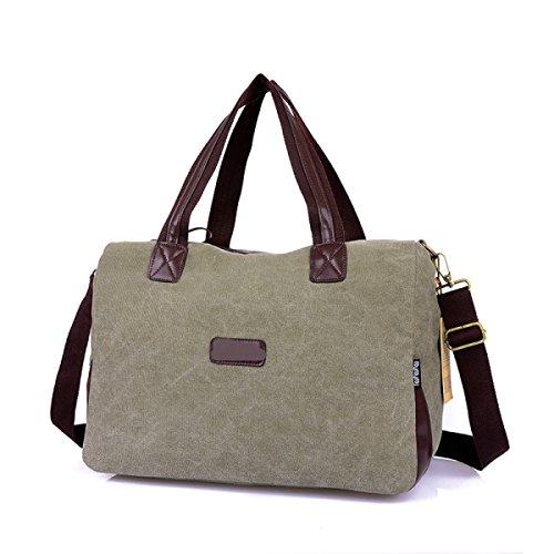Frauen Jahrgang Leinwand Schulter Aktentasche Messenger Handtasche Arbeiten Die Universelle Einsatz Tasche ,D-OneSize