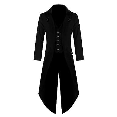 Manteau Veste Steampunk Gothic Homme Shujin Vintage Long P0zqnpx