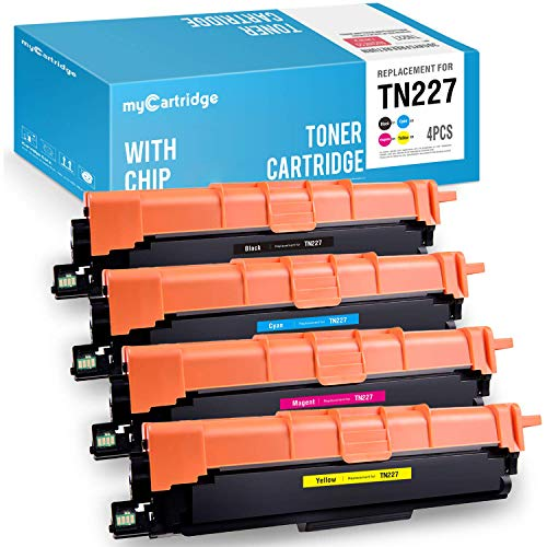 myCartridge(WITH CHIP) Compatible Toner Cartridge Replacement for Brother TN227 TN223 (1 Black,1 Cyan,1 Magenta,1 Yellow, 4-Pack) Fit HL-L3210CW,L3230CDW,L3270CDW,L3290CD,MFC-L3710CW,L3750CDW,L3770CDW Brother 4 Pack Toner
