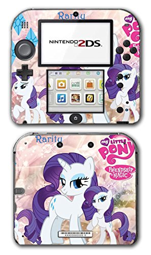 My Little Pony Friendship is Magic MLP Rarity Video Game Vinyl Decal Skin Sticker Cover for Nintendo 2DS System Console
