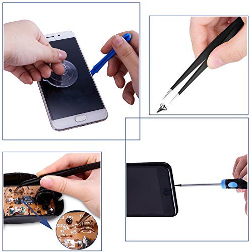 Repair Tools Kit, Precision Screwdriver Set,Electronic Devices Pry Open DIY Tool Kits Phones/Computers/PC/Tablets/Pads/iPad Pro/Watch by KALAIDUN (Image #2)