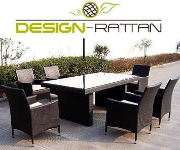 Amazon.de: Design-Rattan® - MILANO - Polyrattan Gartenmöbel Lounge ...