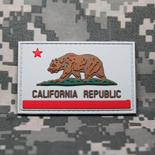 California State Flag PVC Rubber Morale Patch by NEO Tactical Gear Morale Patch - Hook Backed (Full Color)
