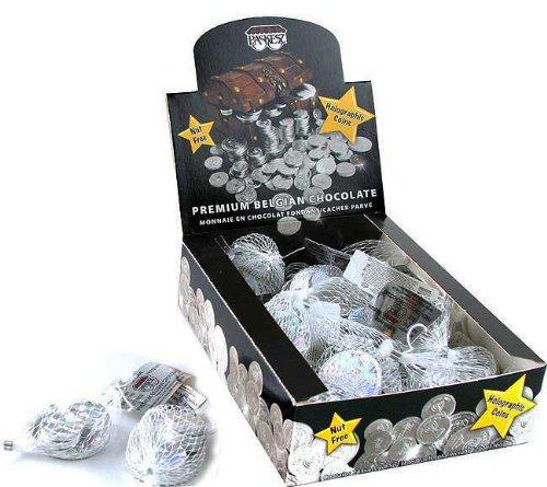 Hanukkah Coins Chanukah Gelt NUT FREE Parve Chocolate Coins - 24 Sacks -