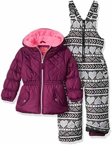 Pink Platinum Girls' Printed Super Snowsuit